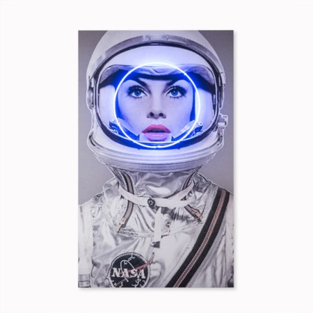 Neon Space Girl - Blue