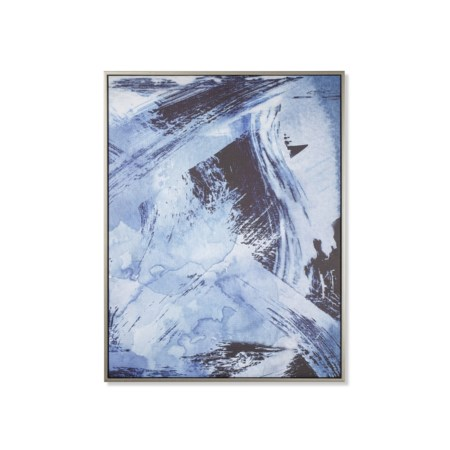 Indigo Wash Abstract