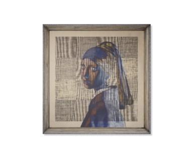 Vermeer Edit Linen Print