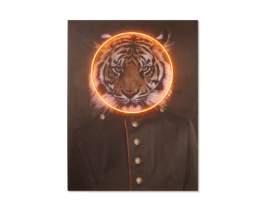 LED Neon Tiger Portrait