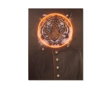 LED Neon Tiger Portrait