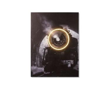 LED Neon Steam Train