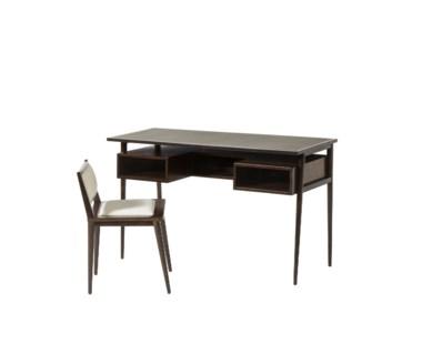 Herringbone Desk & Chair - Cloud White