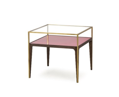 Rubylite Side Table - Pink Glass