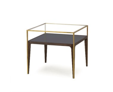 Silhouette Side Table - Smoked Glass