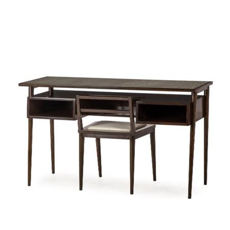 Herringbone Desk & Chair - Cloud White (UK Standard)