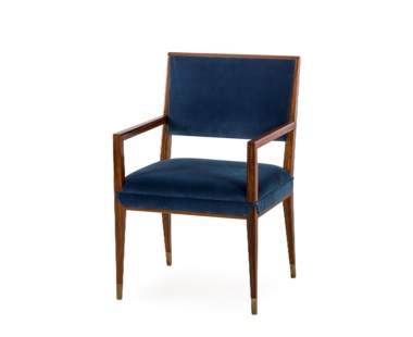 Reform Arm Chair - Rosewood / Vana Blue Velvet