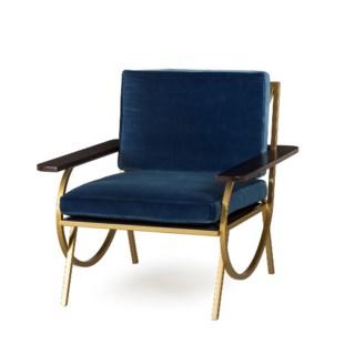 B Chair - Vana Blue Velvet