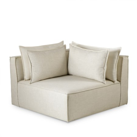 Charlton Modular Sofa - Corner Chair / Madison Dove