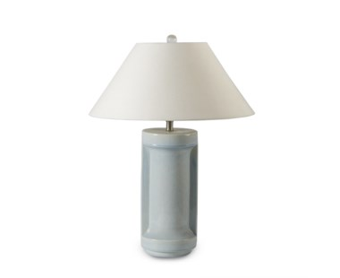 Ming Ceramic Lamp - Sky Crackle Blue