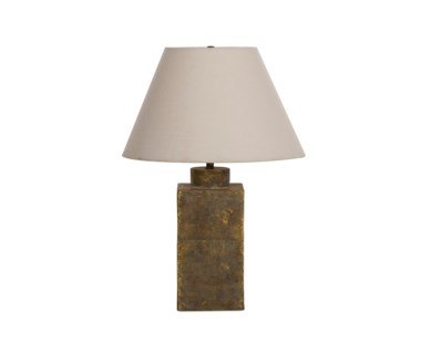 Ceramic Caddy Lamp - Gold