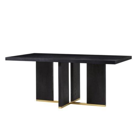 "Calvin Cross Dininig Table - 72"" in Black Oak"