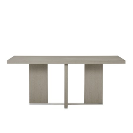 "Calvin Cross Dining Table - 72"" in Grey Oak"