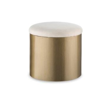 Morrison Ottoman - Round / Brushed Brass
