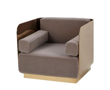 Vinci Occasional Chair - Mirrored Brass / Vic Platinum