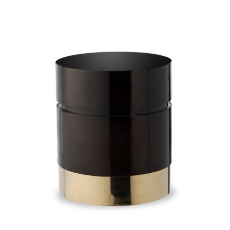 Morrison Ottoman - Round / Black Lacquer