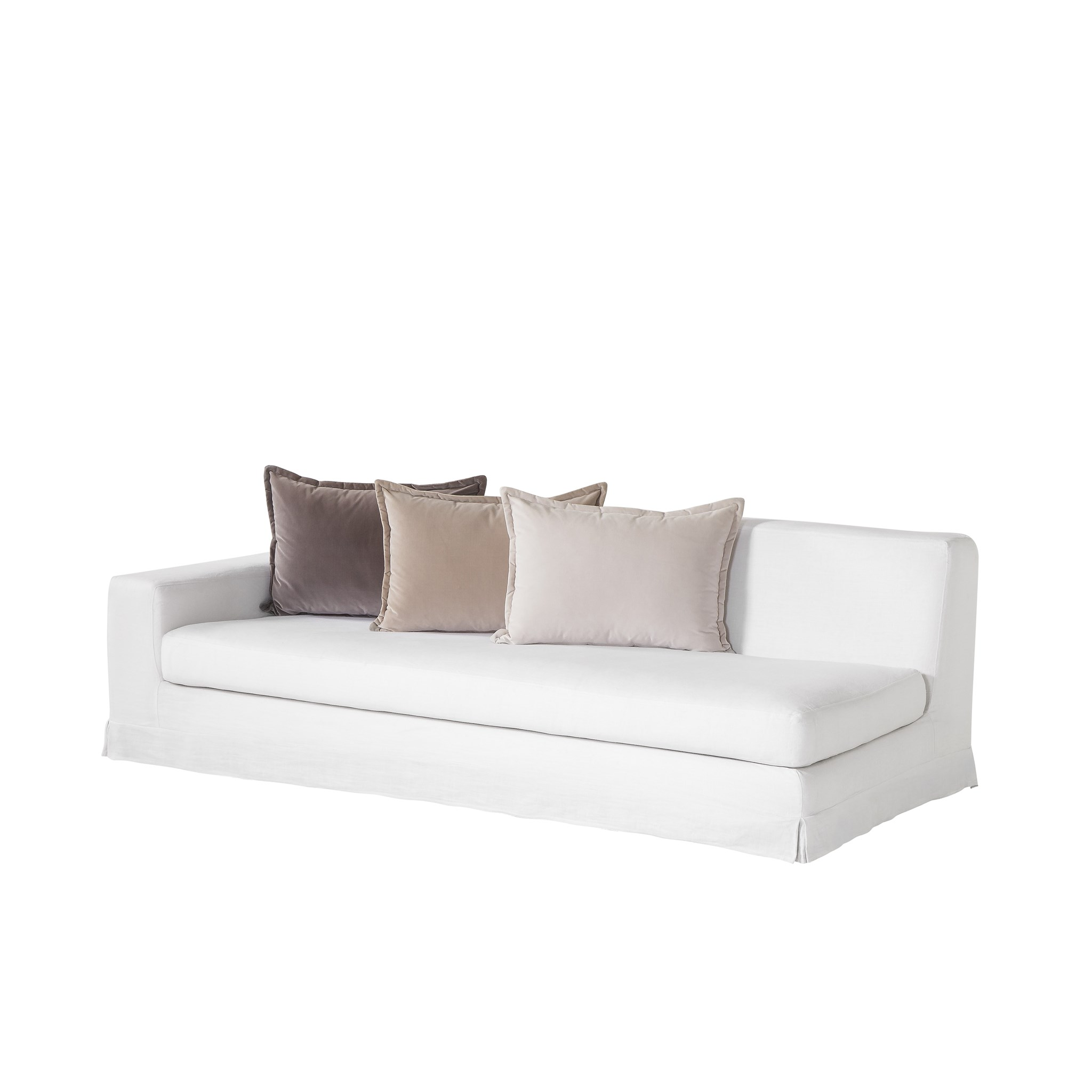 Jackson Modular Sofa Left Arm Facing Warm White