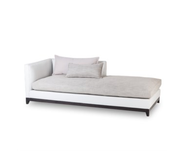 Jackson Chaise - Left Arm Facing / Fallon White Leather