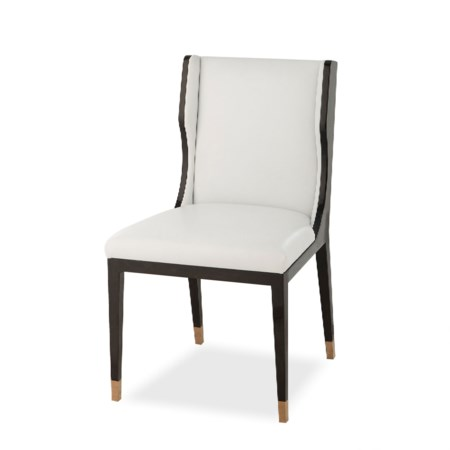Taylor Dining Chair - Fallon White Leather (UK Standard)