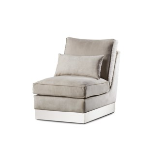 Molly Lounge Chair - Finley Beige Leather