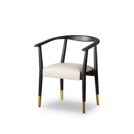 Soho Dining Chair - Matt Black / Fawn Prestige