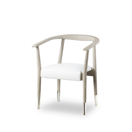 Soho Dining Chair - Grey Oak / Fallon White Leather