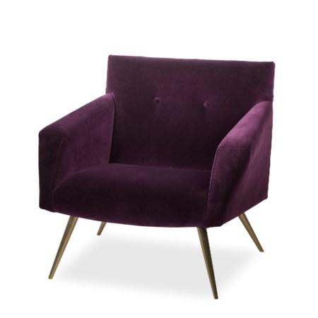 Kelly Occasional Chair - Vadit Deep Purple (UK Standard)