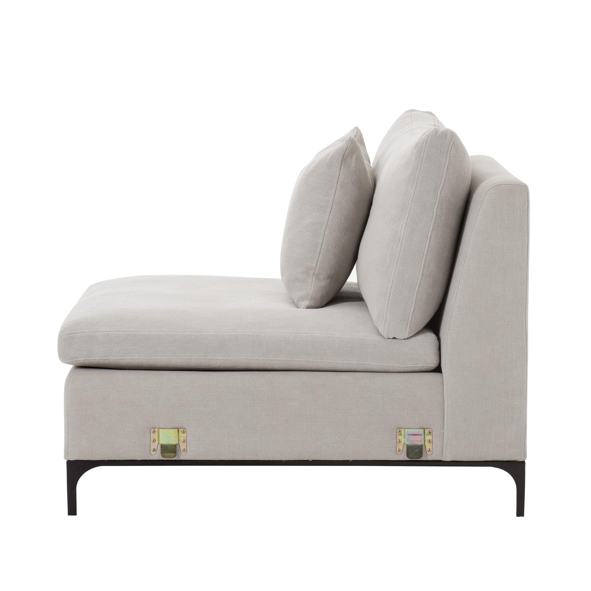 Lauren One Seat Armless Chair Nina Stone Sofas