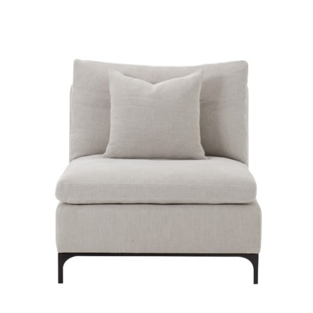 Lauren 1 -Seat Armless Chair - Nina Stone