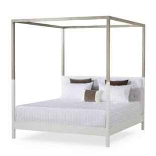 Duke Poster Bed - US Queen / Warm White