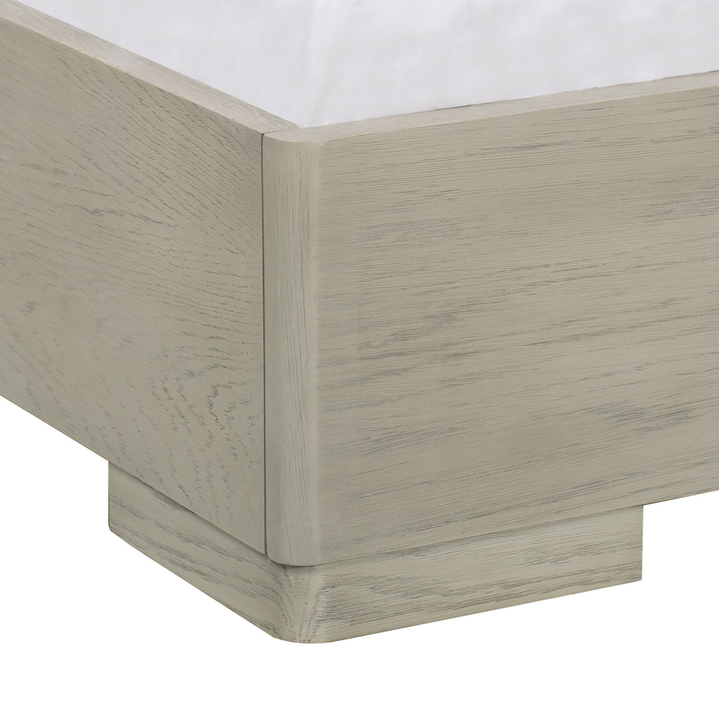 Newman Bed - US Queen / Fallon White Leather