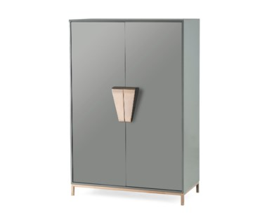 Shield Cabinet - Dark Grey Lacquer