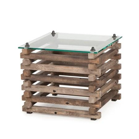 Bertrand Log Side Table