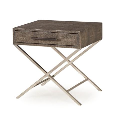 Randolph Side Table - Charcoal Shagreen