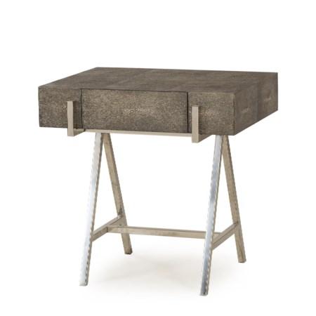 Sampson Side Table- - Charcoal Shagreen