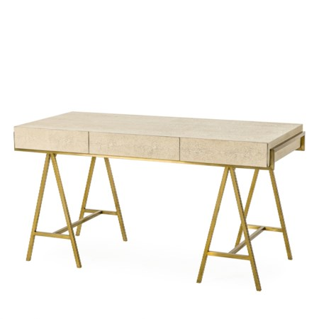 Delilah Desk- Cream Shagreen