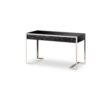 Dexter 2 Drawer Desk - Stainless Steel