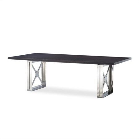 Girder Dining Table - Grey Lacquer / Large