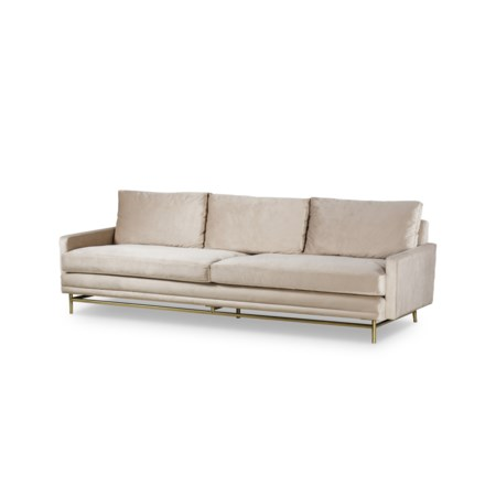Jasper Large Sofa - Harry Velvet Natural