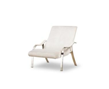 Mantis Lounge Chair - Harry Velvet Natural