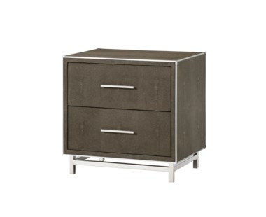 Mansfield Nightstand - 2 Drawer / Grey