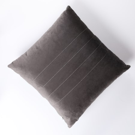 Vera Charcoal Throw Pillow
