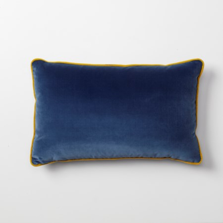 Throw Pillow - 53 x 33, Vana Blue Velvet body