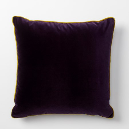 Vadit Deep Purple Throw Pillow - 56 x 56