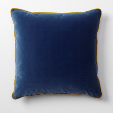 Throw Pillow - 56 x 56, Vana Blue Velvet body