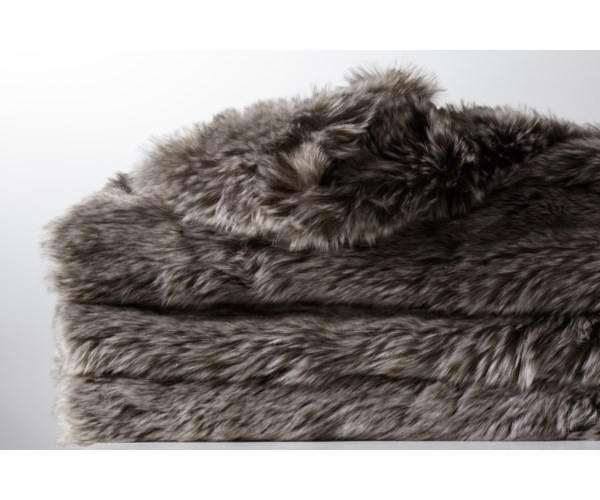 Faux Fur Throw - Arctic Grey