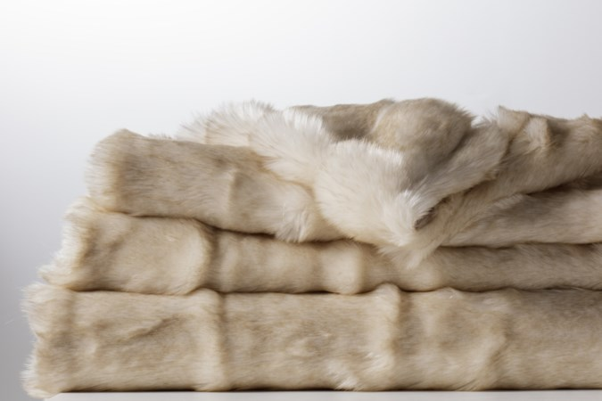 Faux Fur Throw - Warm Ivory