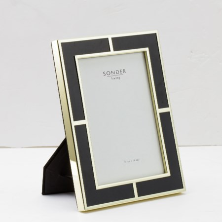 Black Gold Brass Frame  - 5' x 7'