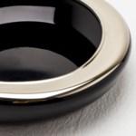 Arora Bowl - Black/Silver Metallic
