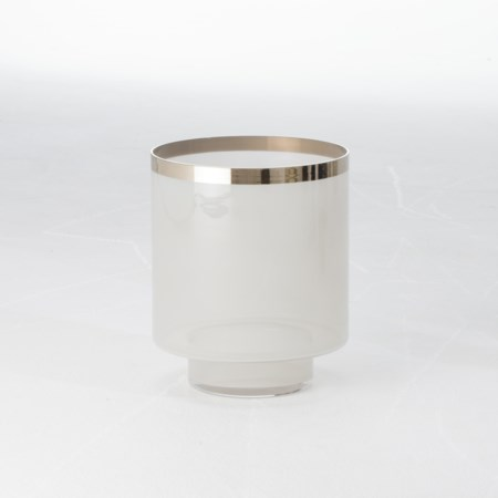 Eve Vase - Grey / Silver Metallic - Small